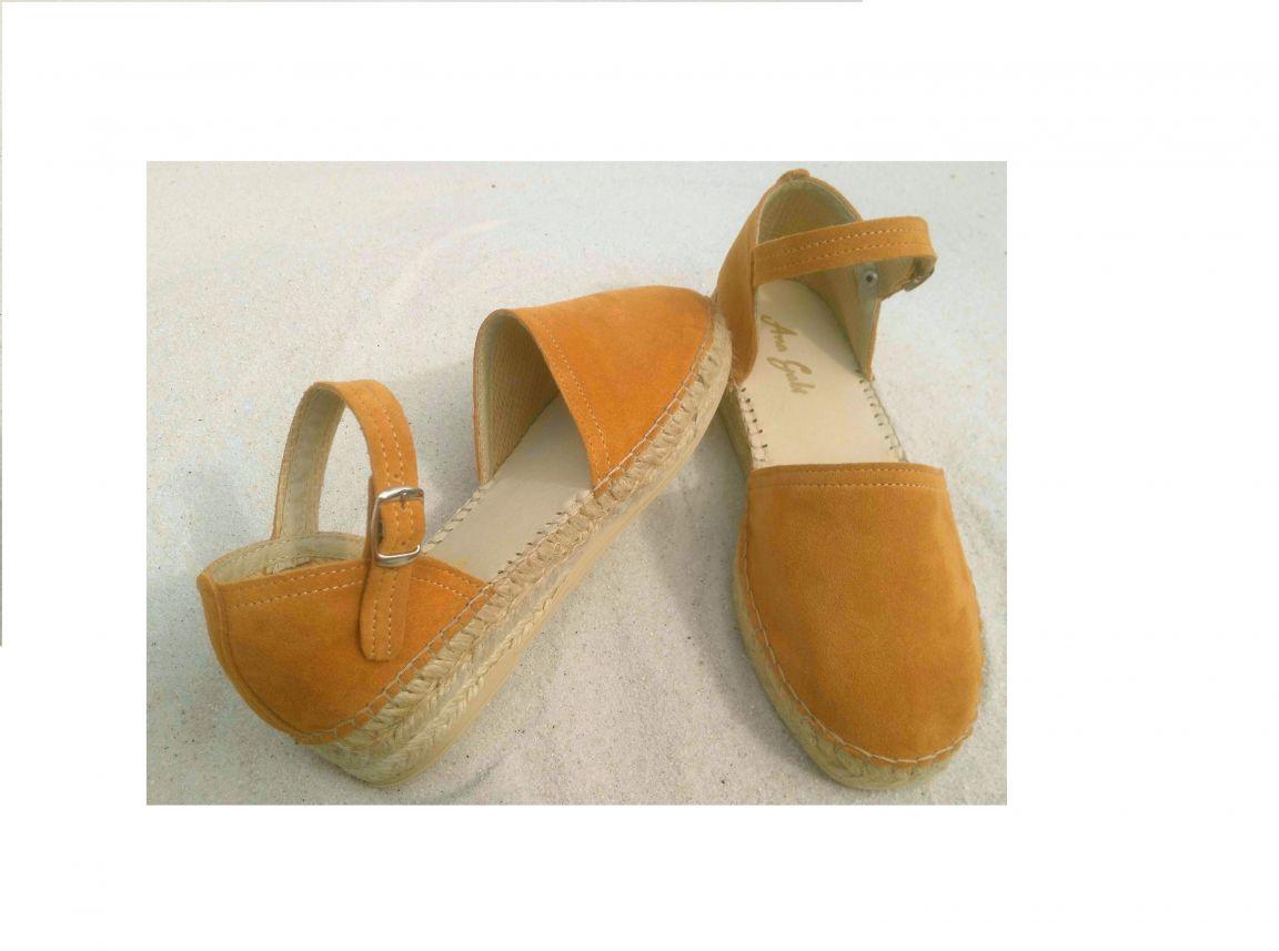 sandalete de senhora em pele