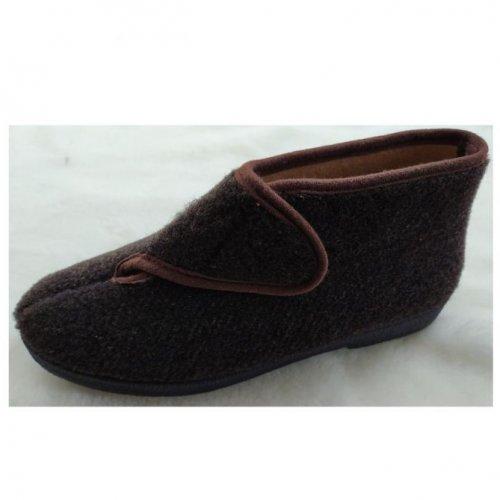 pantufa bota com velcro