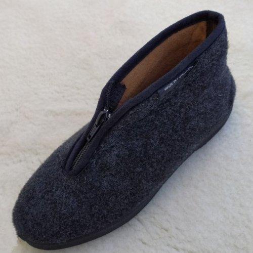 pantufa bota com fecho