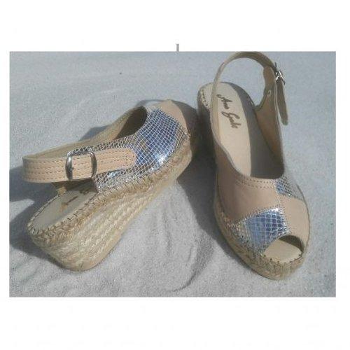 two color sandal