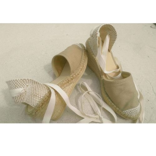 burlap fabric sandal